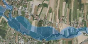 Hochwasserrisikozone - Überflutung bei 30-jährlichem Hochwasser möglich