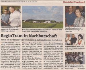 Pressebericht BezirksRundschau UU 27.06.2013